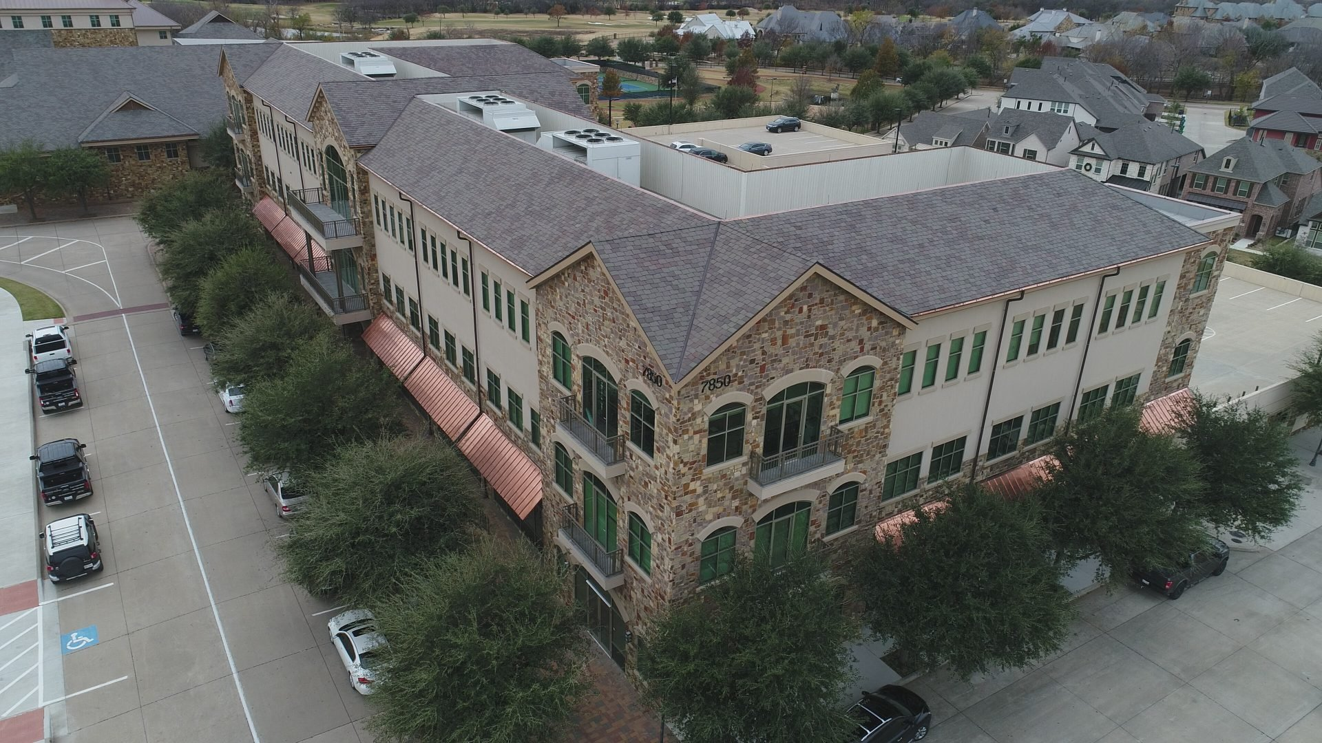 Elevated Roofing in Frisco, TX - Overhead Roof Shot