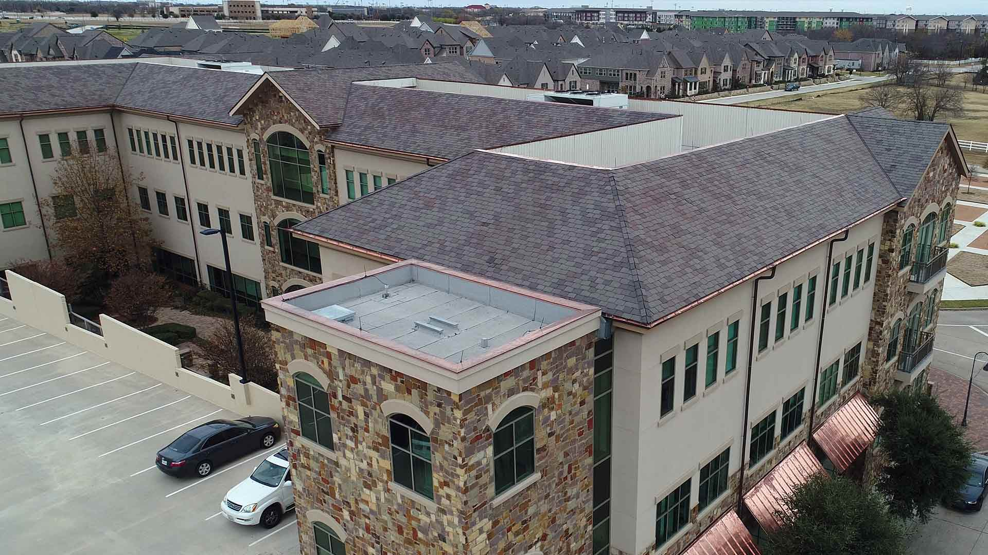 Elevated Commercial Roofing Town Square Project